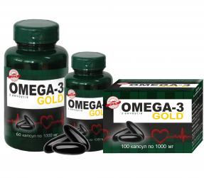 Омега-3 – Голд  1000 мг