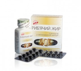Fish oil from anchovy in light-resistant capsule 500 mg