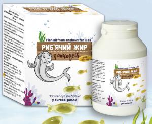 Рыбий жир из анчоусов для детей